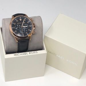 NWT Michael Kors men's rose gold watch